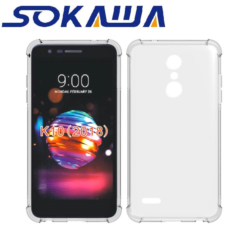 For LG K30 & LG K10 2018 K11 Plus Case+Tempered Glass Transparent Soft TPU Gel Skin Protection Silicon Clear Shell Cover