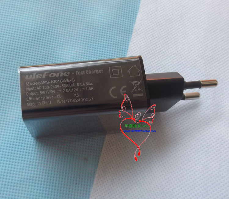 New Original Ulefone Power 2 USB Adapter Charger EU Plug Travel 5V/1.5A Switching Power Supply