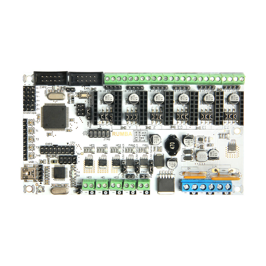 Geeetech 3d printer control board Rumba board based on ATmega's'AVR processor free shipping geeetech newest reprap 3d printer control board rumba usb cable best choice for diy fans