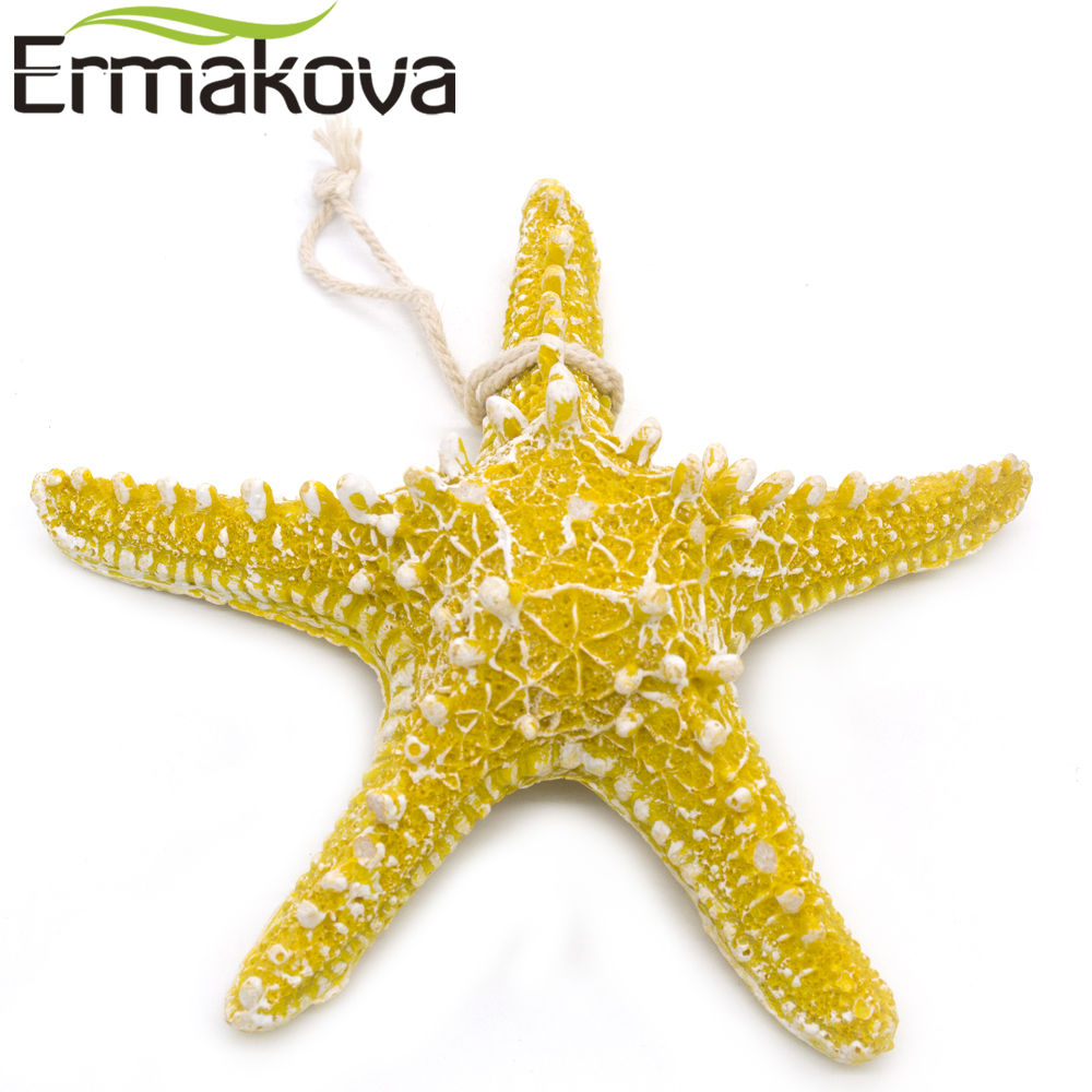 ERMAKOVA Resin Starfish Figurine Wall Sticker Hanging Sea Star ...