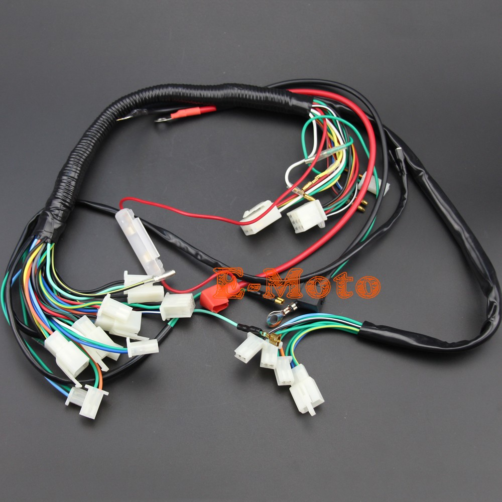 wiring harness loom for chinese electric start quads 50cc 70cc 90cc 110cc 125cc 140cc 1 1 2 2  [ 1000 x 1000 Pixel ]