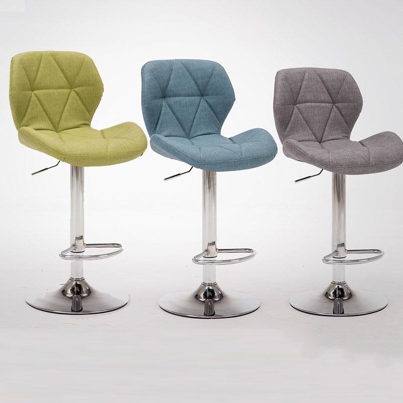 Bar Stools Chair Rotating Lift Backrest High Home Fashion Creative Beauty Round Stool Swivel  Tabouret De Bar Formal Dinning