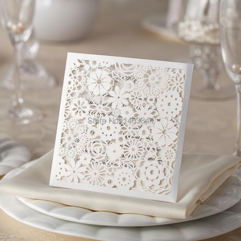 bolsillo de corte por lser tarjeta de invitacin de boda con sobre alineado wmchina