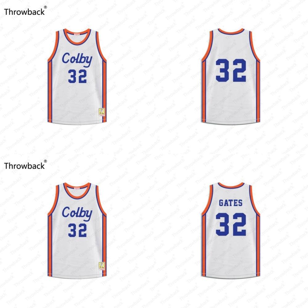 Curtis Ворота #32 симбиозом школы Хооп мечты возврат фильм Баскетбол Джерси сшитые S-4XL