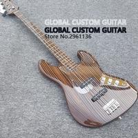 China's Bass guitar,High quality zebra wood Bass Guitar guitar, ,Real photo showing free shipping