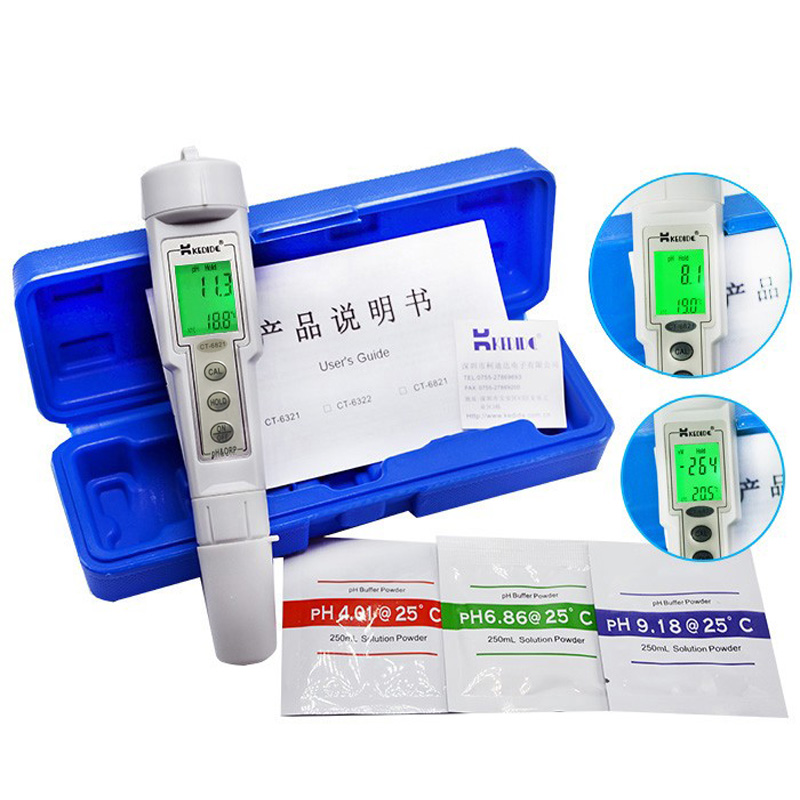 professional Digital PH Meter ORP Meter water quality tester ph Pen test Water 2 in1 protable PH ORP tester soil ph meter ct 6821 ph tester meter swimming pool tester orp water quality meter tester aquarium ph meter orp ph 2in1
