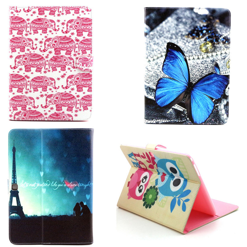 YH PU leather Cute OWI Print Stand PU Leather case for Samsung Galaxy  Tab 4 10.1 inch T530 T531 T535 Tab4 10.1 Tablet Cover yh printed flip stand skull cute owi leopard pu leather cover case for samsung galaxy tab e 9 6 inch tablet t560 t561 sm t560