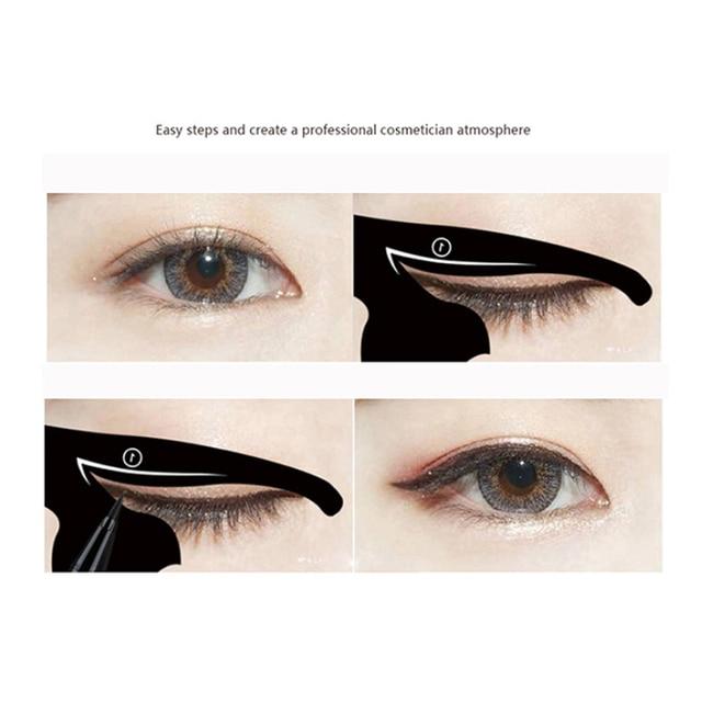 BONNIE CHOICE Cat Eye Liner Card Beauty Mold Stencils Pro Eye Makeup Tool Template Shaper Model For Eye Makeup Tool 5