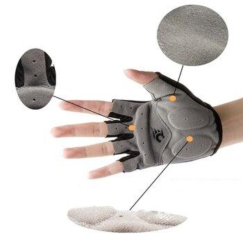 Силиконовые перчатки для велоспорта, полупальцевые ударопрочные спортивные перчатки для спортзала с EVA Pad, велосипедные перчатки для мужчи...
