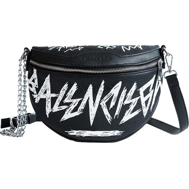 6a95dfa204bd Hip-hop Fashion Female Waist Bag Women Fanny Pack Belt Bag Fashion Letters Chains  Shoulder