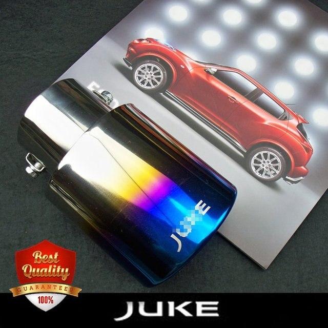 Diseño de tubo de escape adecuado para Juke 2010-2018 tubo de escape de acero inoxidable silenciador de tubo de cola accesorios de automóvil hornear azul