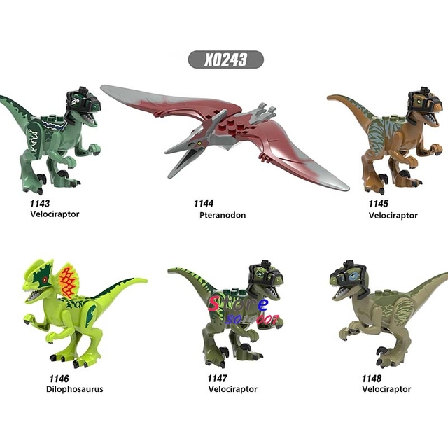 1pcs Mundo Jurássico Tiranossauro Rex Dinossauro Carnotaurus Interprocriar Blocos de Construção Menino Bonecas Brinquedos para Presente Das Crianças