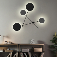 Black modern wall lamp indoor for reading wall lights for home LED AC 90 260V