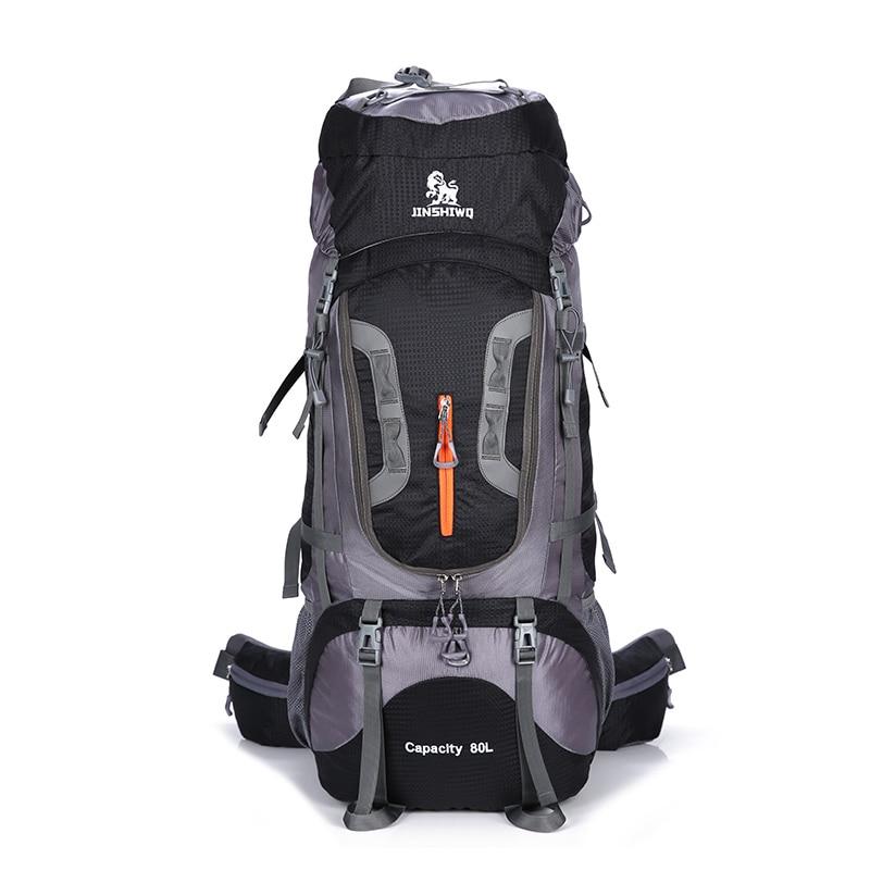 80L rucksack climbing bag outdoor tactical backpack camping hiking backpacks nylon bag Aluminum alloy frame travel