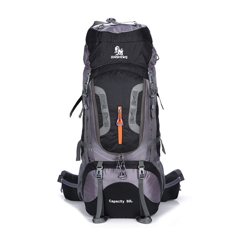 80L rucksack climbing bag outdoor tactical backpack camping hiking backpacks nylon bag Aluminum alloy frame travel backpack