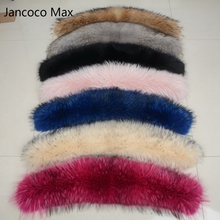 Jancoco Max* Lining 75cm 2018 Large Real Fur Trim Raccoon Collar Parka Hood Women Men Fashion Natural Scarf Hooks S1692