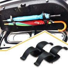 Автомобильный багажник крепление двойной кронштейн зонтик держатель стойки клип крюк многофункциональный авто Интерьер крепеж Органайзер Fit