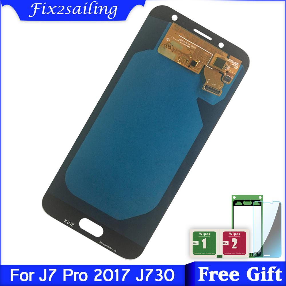100% Tested Working LCD For SAMSUNG Galaxy J7 Pro J730 LCD Display Touch Screen Digitizer Assembly Replacement parts with gift100% Tested Working LCD For SAMSUNG Galaxy J7 Pro J730 LCD Display Touch Screen Digitizer Assembly Replacement parts with gift