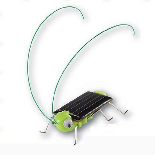 New 1 PCS Children Baby Solar Power Energy Insect Grasshopper Cricket Kids Toy Gift Solar Novelty Funny Toys 3