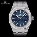 DIDUN Mens Marca de Luxo Relógios Em Aço Completa Quartz relógios Homens Vestido Negócios Assista Luminosos relógios de Pulso resistente à Água