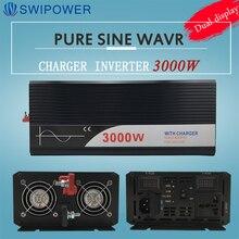 Inversor puro da onda do seno do inversor 3000w de ups com carregador 12v 24v 48v dc para c.a. 220v 230v 240v inversor de energia solar