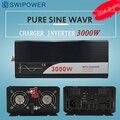 Ups inversor 3000 W onda senoidal pura inversor com carregador 12 V 24 V 48 v DC para AC 220 V 230 V 240 v de energia solar inversor