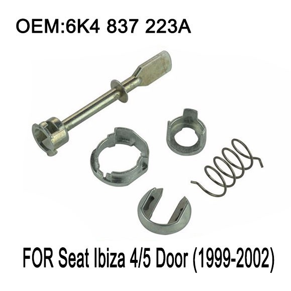 Car Iron Door Lock Cylinder Repair Kit For Seat Ibiza 4/5 Door (1999-2002) front left or right 5 Piece 6K4 837 223A