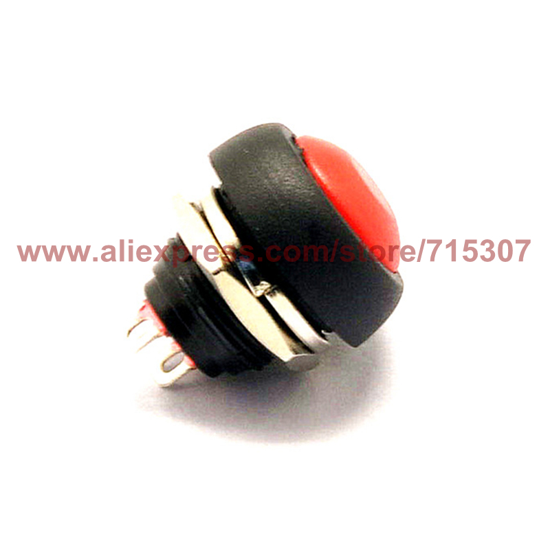 PHISCALE 10pcs Red mini non locking push button switch PBS