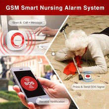 Seed-Alarm Emergency Button Wireless with Sos/doorbell Pir-Motion And Door-Sensor Easy-Use