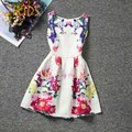 Casual Girl Dresses for Girls Party Dress Summer 2016 Teenage Girls Clothing Sleeveless Flower Animal Printed Kids Clothes