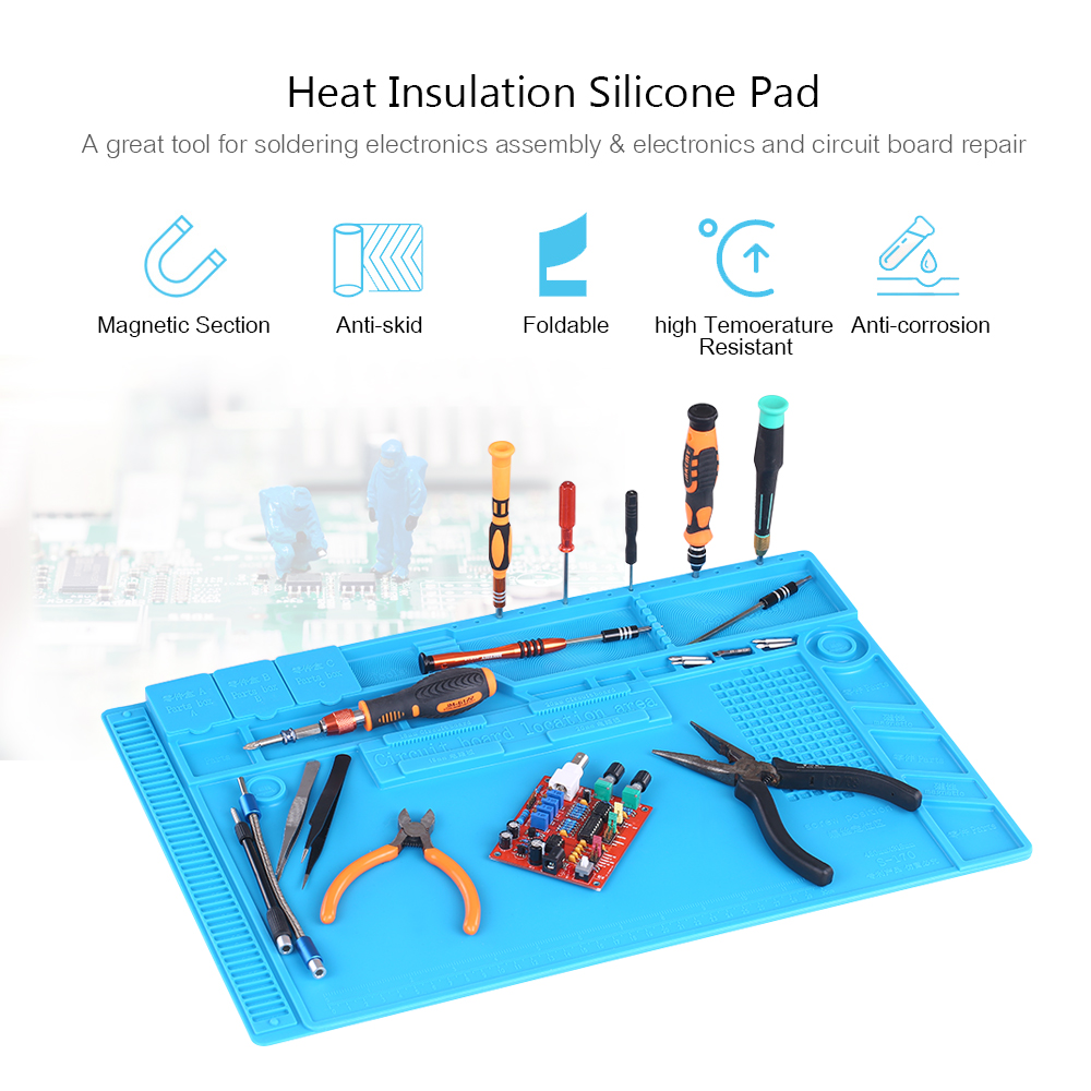 Heat Insulation Silicone Mat for BGA Soldering Repair Solder Station Pad High Temperature Resistance Maintenance Platform free shipping maintenance platform insulation pads 350 250 5 mm resistance high temperature 500 component placement position