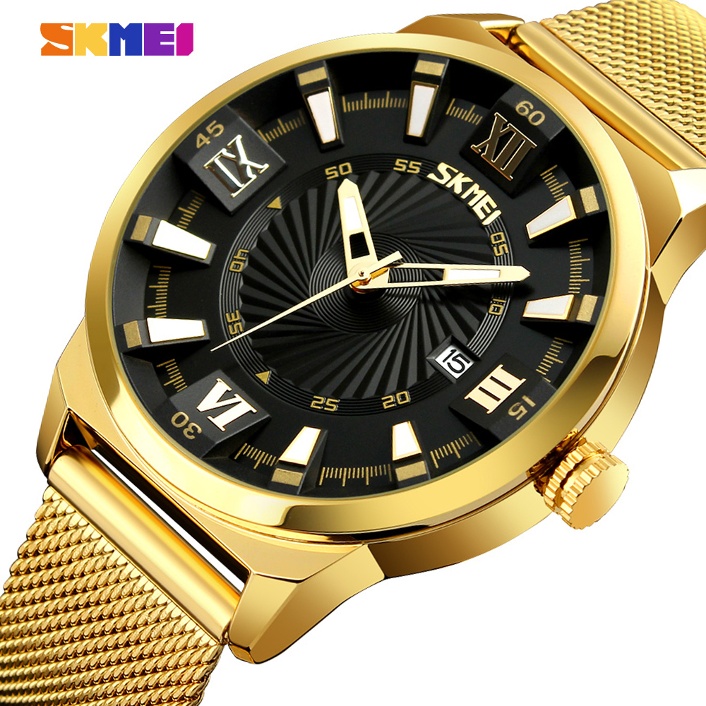 SKMEI Top Luxury Brand Quartz Watches Men Fashion Casual Wristwatches Waterproof Sport Watch Business Clock Relogio Masculino skmei men s quartz watch fashion watches leather strap 3bar waterproof luxury brand wristwatches clock relogio masculino 9106