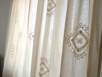 American Country Cotton Crochet European Garden Retro IKEA Clean Curtains Cotton Curtain Screens Sicily