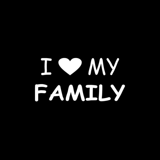 1658cm I Love My Family Car Sticker Decal Automobile Styling