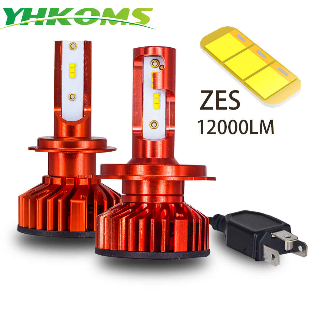 YHKOMS  Led Headlight  H7 LED H4 Car Lights H1 H3 9005 HB3 9006 HB4 H8 H9 H11 880 881 H27 LED Auto Bulb 6000K 80W 12000LM 12V