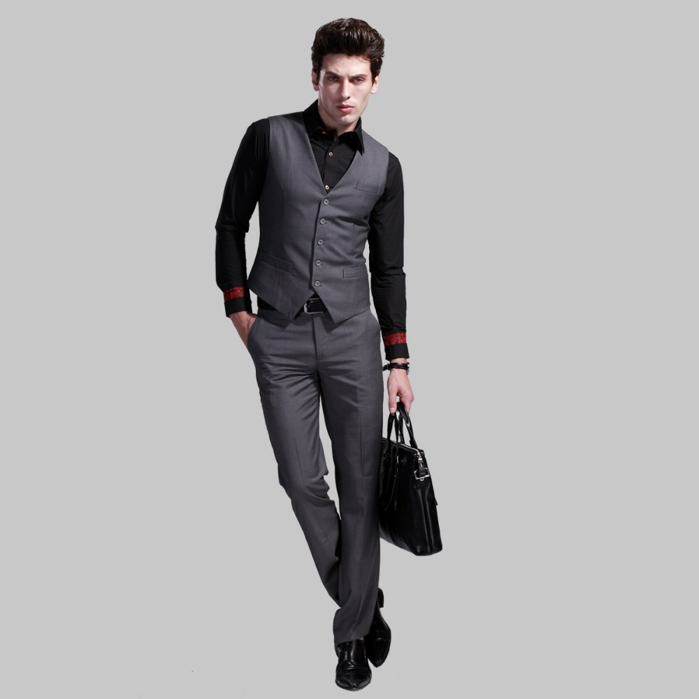 casual suit vest mens black formal dark gray vests plus size mens ...