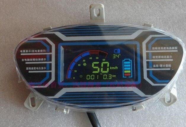 48-120 V Lcd Display Instrument Tacho Für Elektrische Roller Motorrad Dreirad Atv Batterie Anzeige Kilometerzähler Dashboard