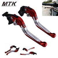 MTKRACING Motorcycle Accessories For SUZUKI SV650 SV 650 1999 2009 Folding Extendable Brake Clutch Levers Sv650