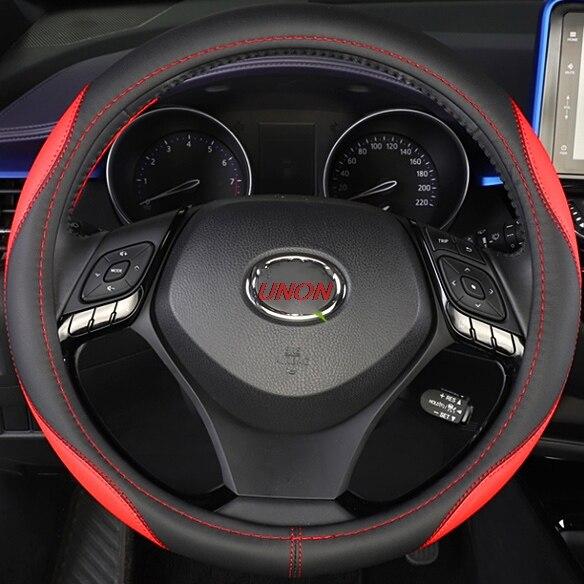 Unon pour Toyota CH-R CHR 2017-2019 revêtement de volant de voiture en cuir PU