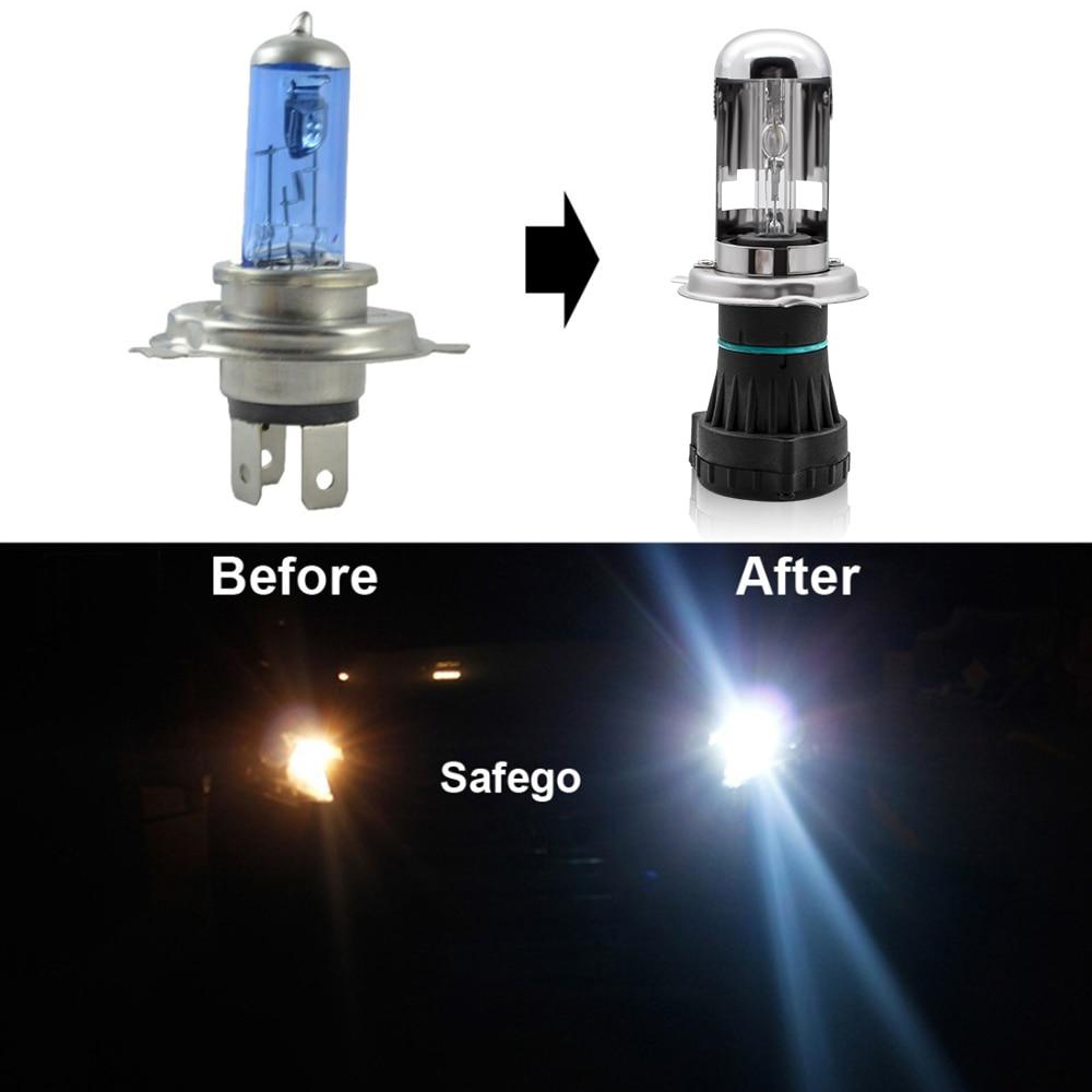 Safego Bixenon H4 HID Headlight Penggantian Untuk Mobil Sepeda Motor - Lampu mobil - Foto 4