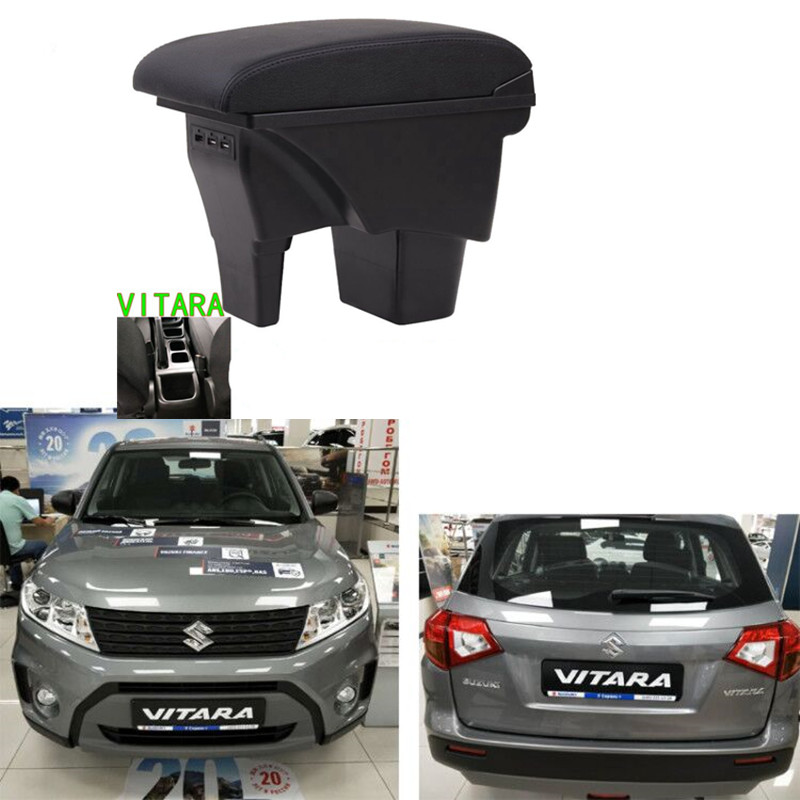 For Suzuki Vitara Box for Central Armrest Box Content Store with with USB|Armrests|   - title=