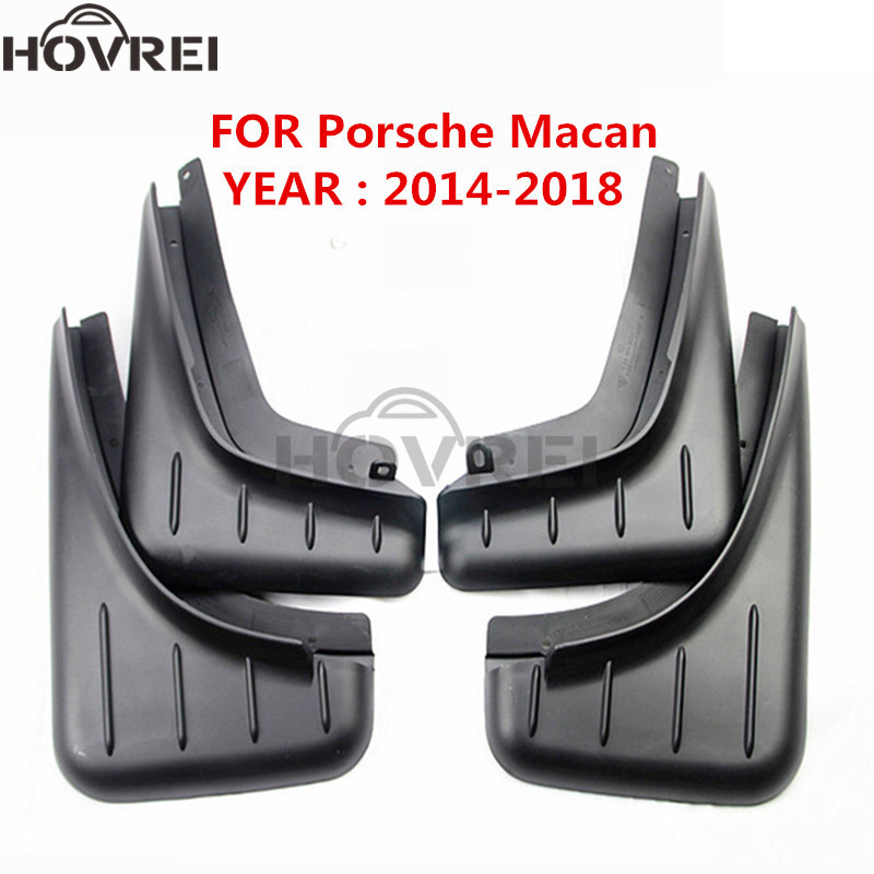 4Pcs/set  Car front rear Mud Flaps Splash Guards Fenders mudguards For Porsche Macan Mudguard 2014 2015 2016 2017 2018-in Mudguards from Automobiles & Motorcycles    1