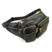 Men Women Genuine Leather Large Fanny Designer Waist Pack Bum Belt Casual Pouch Cellphone Bag Multi Compartment Practical Bags