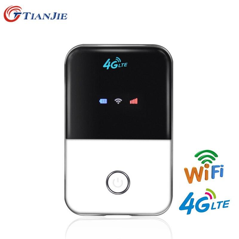 TIANJIE Mini Router Sim-Card-Slot Pocket Wifi Mobile-Hotspot Portable Wireless LTE 3G