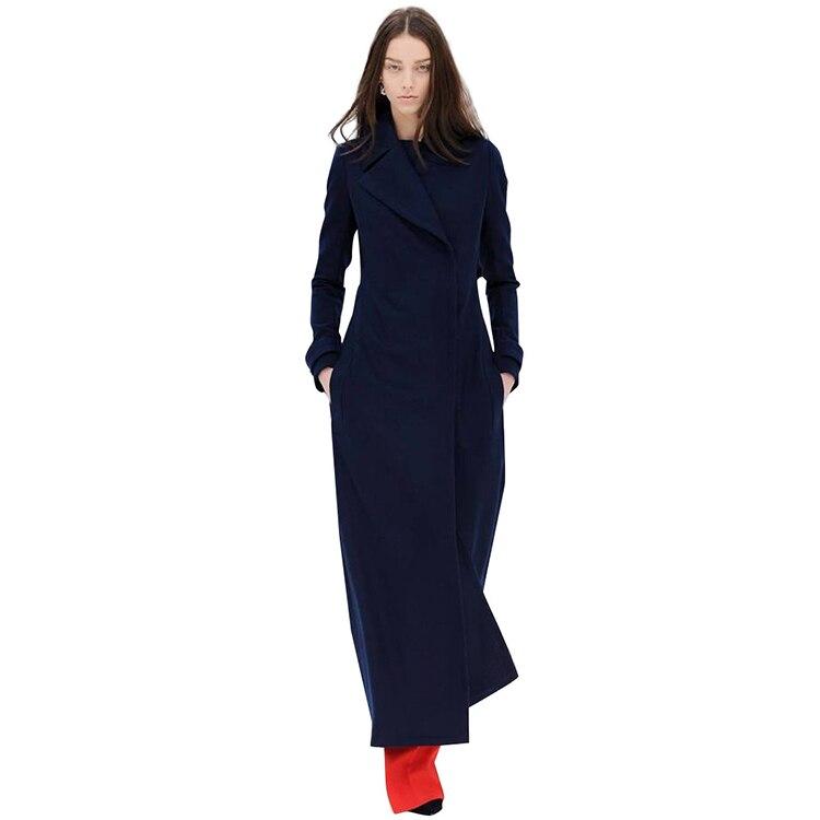 Fashion Ultra Long font b Women b font Winter Woolen font b Jacket b font Plus