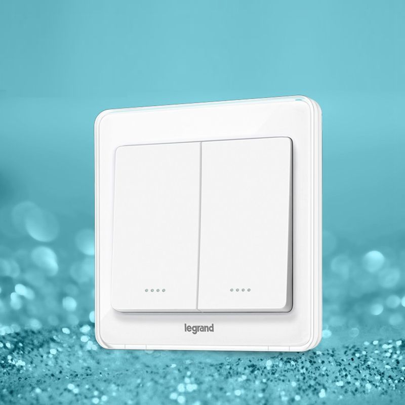 High Quality 2 Gang 3 Way Wall Switch Kit Crystal White 86type Light