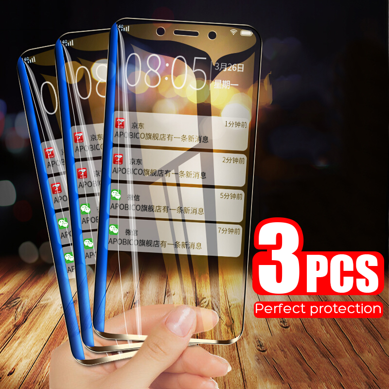 3PCS Protective Glass On The For Samsung Galaxy A3 A5 A7 J3 J5 J7 2016 2017 Glass Cover S7 Tempered Screen Protector Glass Film