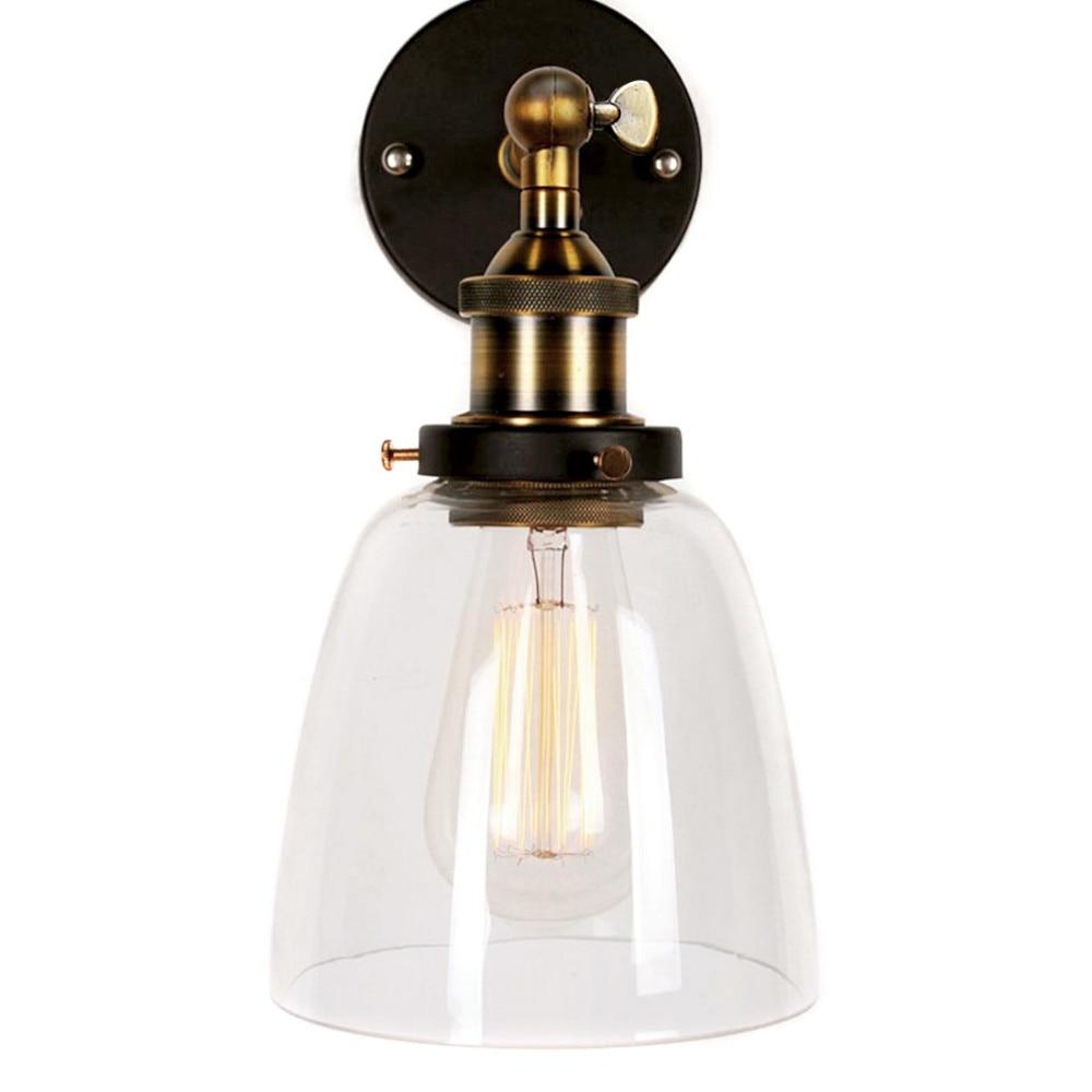 Moderne Vintage LoftUp Unten Rustikalen Industria Industrielle Metall Wandleuchte Retro Messing Land Stil Lampe