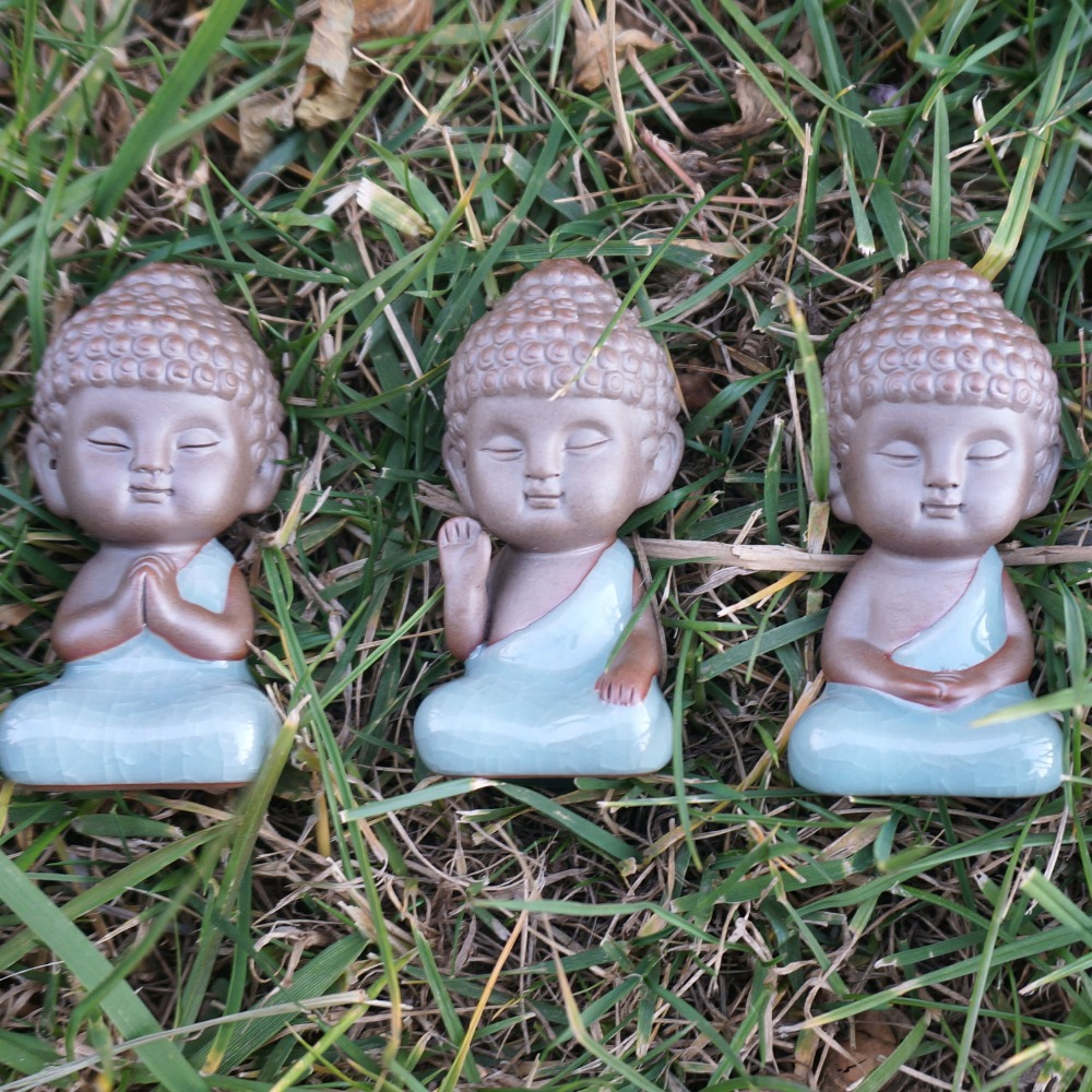 Buddha Statue Figurine Decoration Monk Tea Pet Accessories Bonsai Garden  House Decoration Tathagata India Mandala Home Decor In Statues U0026 Sculptures  From ...