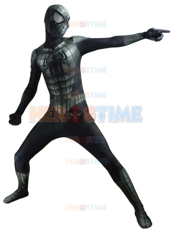 New Black Spiderman Costume Lycra 3D Printing Spider-Man Zentai Suit Halloween Cosplay Costume For Adult/Kids/Custom Made